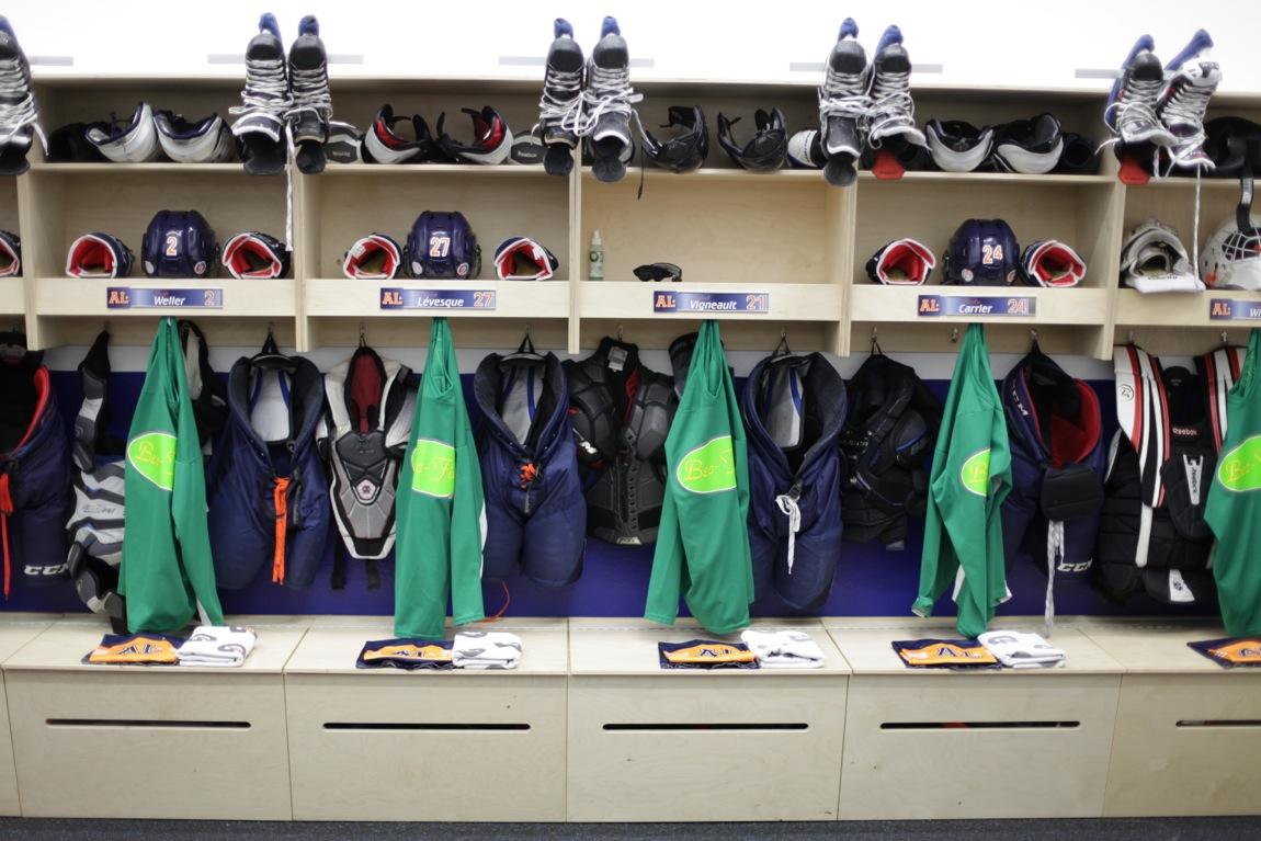 Photo Chambre : Vestiaire d équipe de hockey