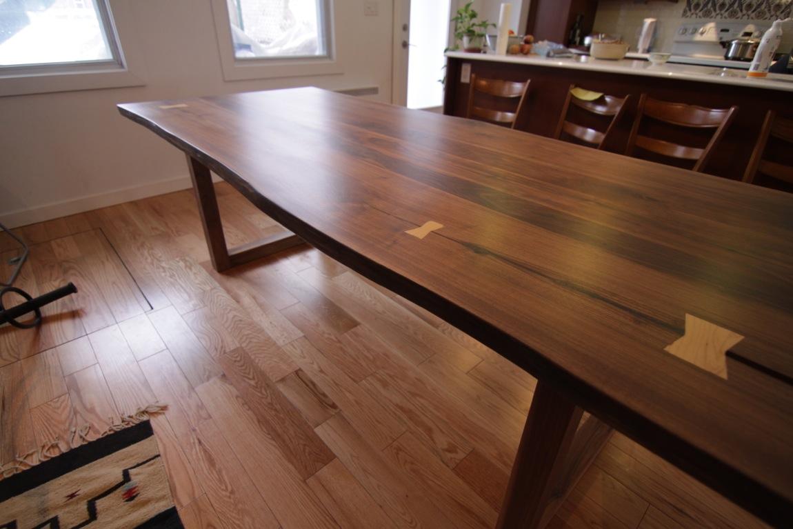 table basse noyer noir. Black Bedroom Furniture Sets. Home Design Ideas
