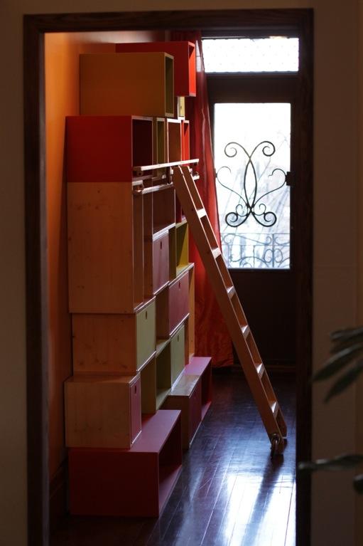biblioth que pour enfants chelle coulissante. Black Bedroom Furniture Sets. Home Design Ideas