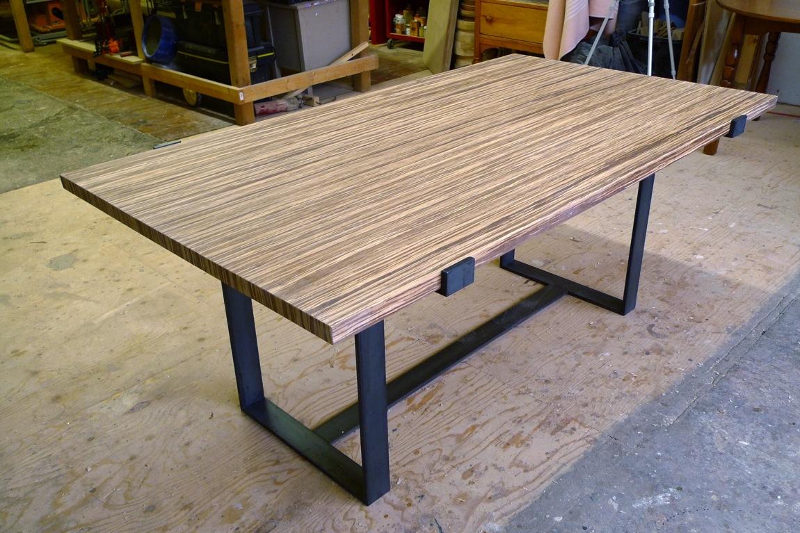 table bambou meuble de salon contemporain. Black Bedroom Furniture Sets. Home Design Ideas